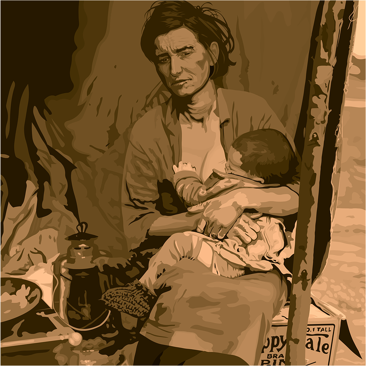 """Migrant Mother"". Bild: Pixabay"
