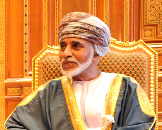 Sultan of Oman Qaboos bin Said Al Said in Muscat, Oman, on May 21, 2013. [State Department photo/ Public Domain]
