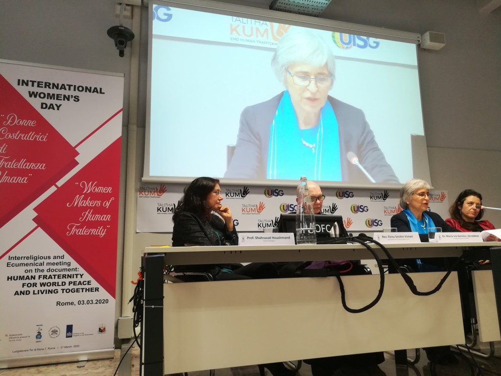 Foto: Women Makers of Human Fraternity, conference for Women's Day 2020 (Link below)